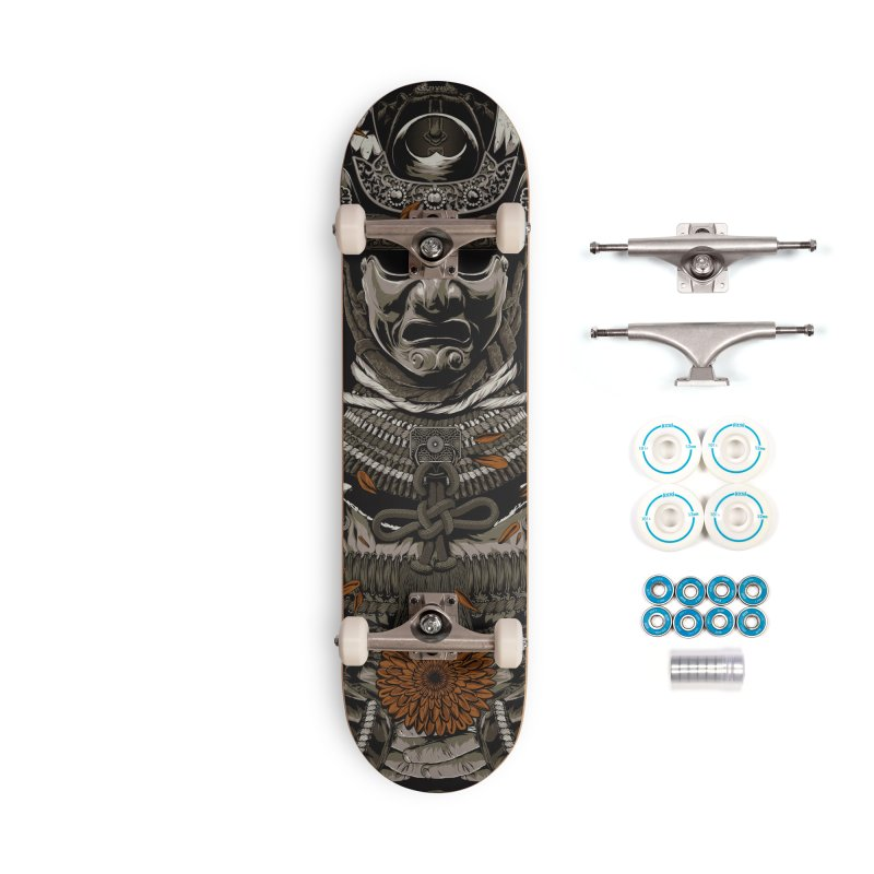 Warriors Dreams Skateboard - Samurai Armor Accessories Complete - Basic Skateboard by Anthony Petrie Print + Product Design