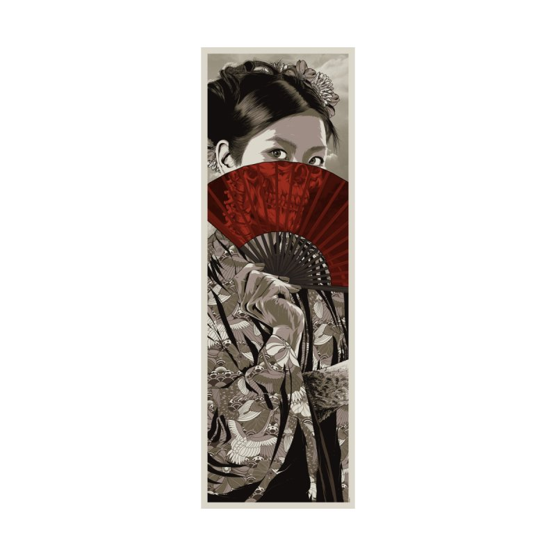 Warrior's Dreams Skateboard - Geisha by Anthony Petrie Print + Product Design