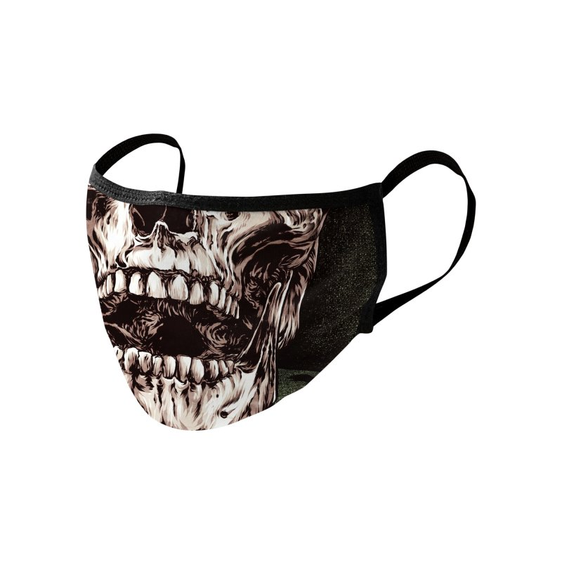 A Warrior's Dreams - Death Accessories Face Mask by Anthony Petrie Print + Product Design
