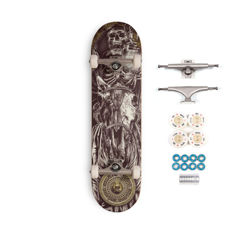 Warrior's Dreams Skateboard - Four Horsemen - Death Accessories Complete - Premium Skateboard by Anthony Petrie Print + Product Design
