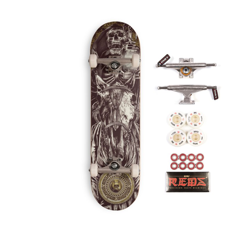 Warrior's Dreams Skateboard - Four Horsemen - Death Accessories Complete - Pro Skateboard by Anthony Petrie Print + Product Design