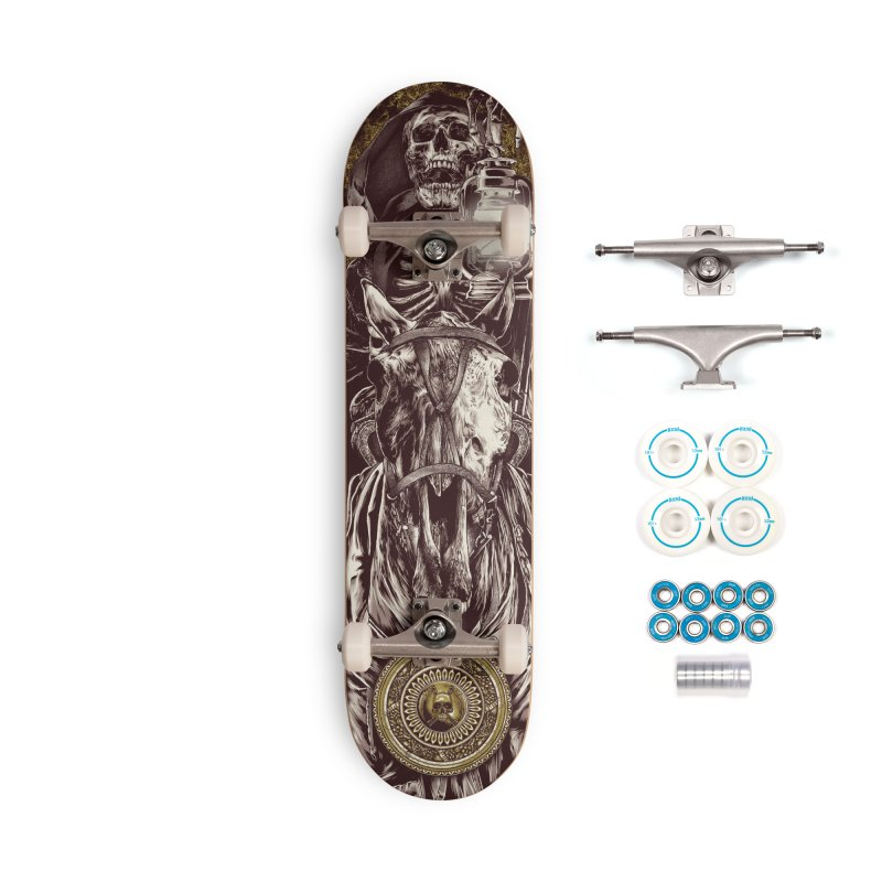 Warrior's Dreams Skateboard - Four Horsemen - Death Accessories Complete - Basic Skateboard by Anthony Petrie Print + Product Design