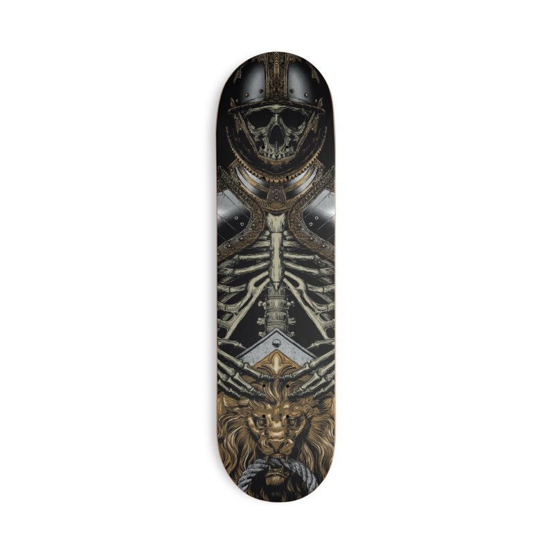 A Warrior's Dreams - Skull Knight Accessories Skateboard by Anthony Petrie Print + Product Design