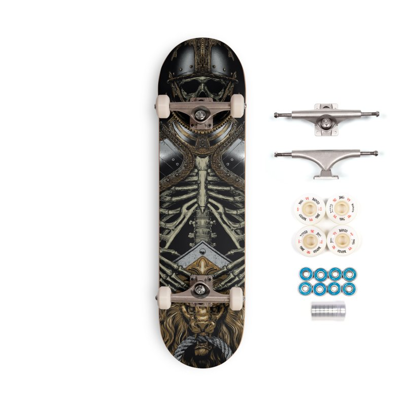 Warrior's Dreams - Skull Knight Accessories Complete - Premium Skateboard by Anthony Petrie Print + Product Design