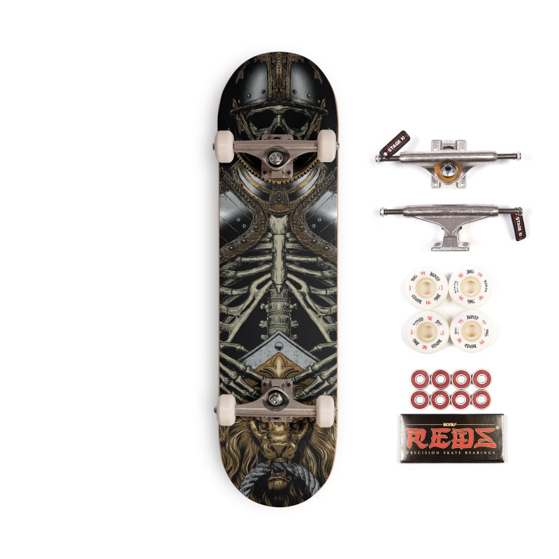 Warrior's Dreams - Skull Knight Accessories Complete - Pro Skateboard by Anthony Petrie Print + Product Design
