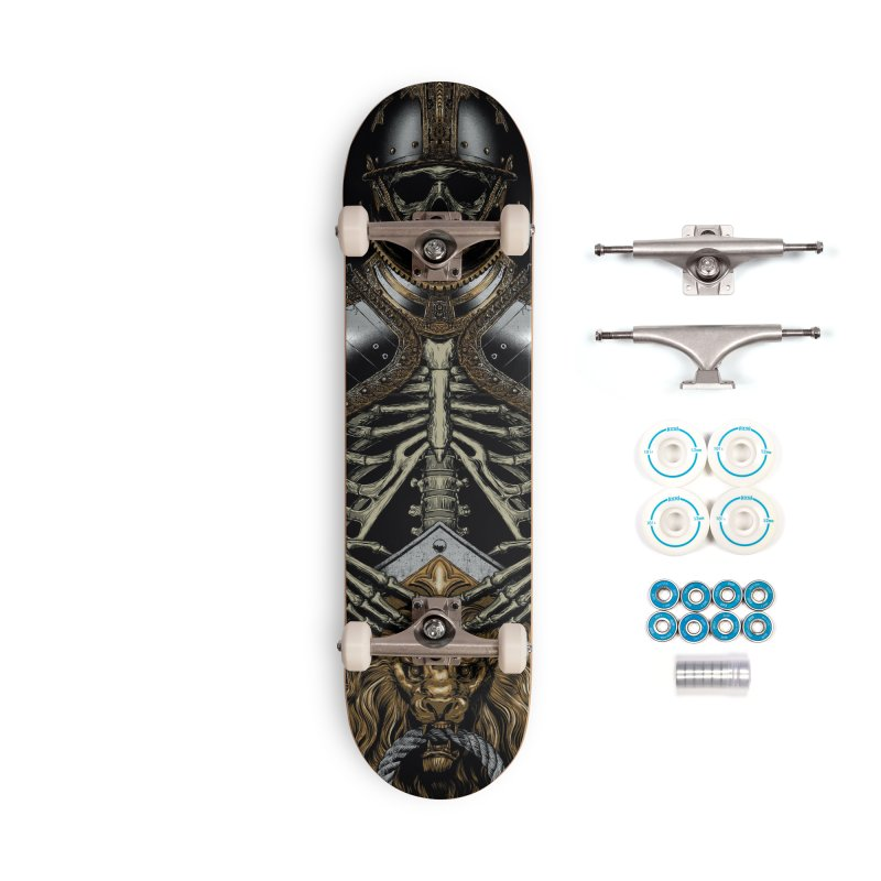 Warrior's Dreams - Skull Knight Accessories Complete - Basic Skateboard by Anthony Petrie Print + Product Design