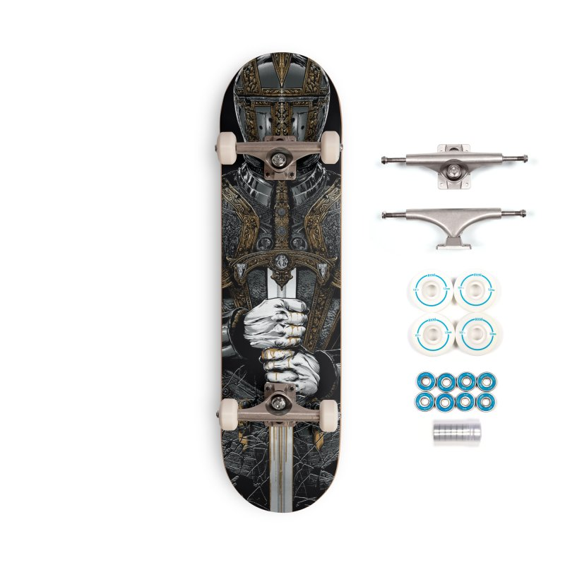 A Warrior's Dreams - Sword Knight Accessories Skateboard by Anthony Petrie Print + Product Design