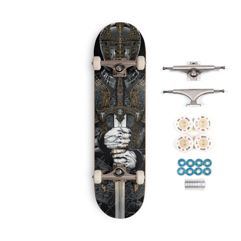 Warrior's Dreams - Sword Knight Accessories Complete - Premium Skateboard by Anthony Petrie Print + Product Design