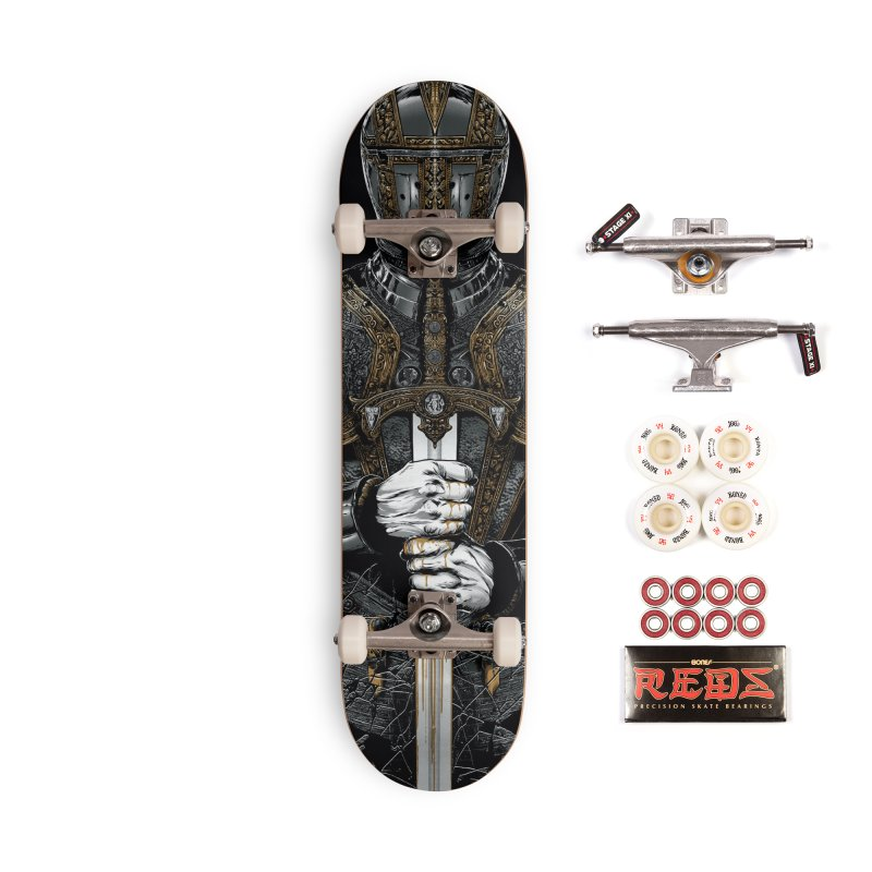 Warrior's Dreams - Sword Knight Accessories Complete - Pro Skateboard by Anthony Petrie Print + Product Design