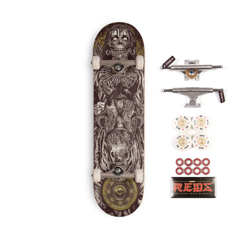 Warrior's Dreams - Four Horsemen Pestilence Accessories Complete - Pro Skateboard by Anthony Petrie Print + Product Design