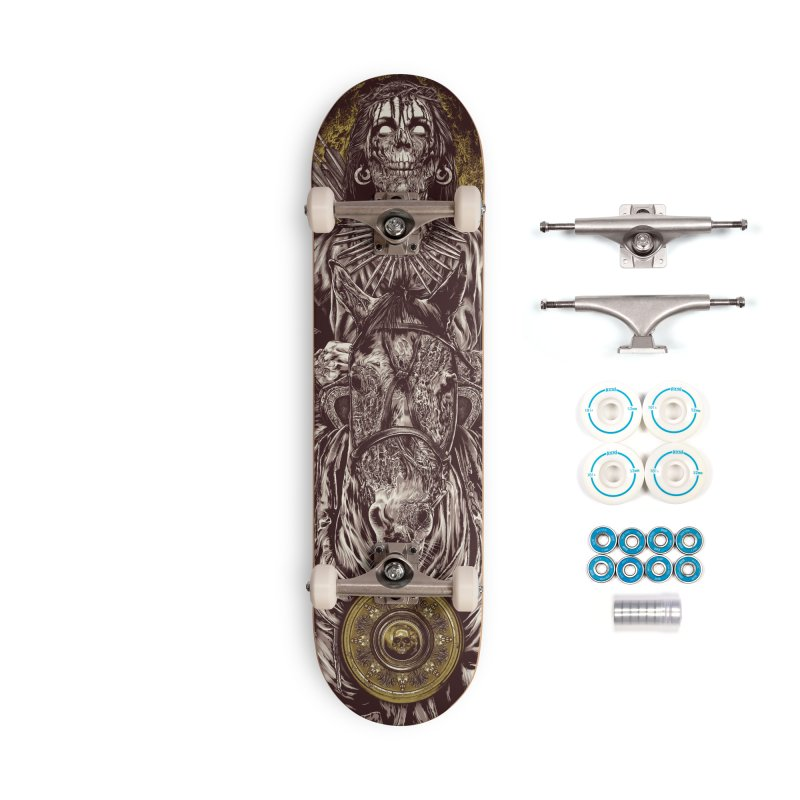 Warrior's Dreams - Four Horsemen Pestilence Accessories Complete - Basic Skateboard by Anthony Petrie Print + Product Design