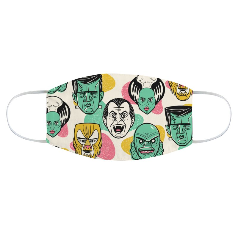 Modster Squad - Monster Mash Accessories Face Mask by Anthony Petrie Print + Product Design
