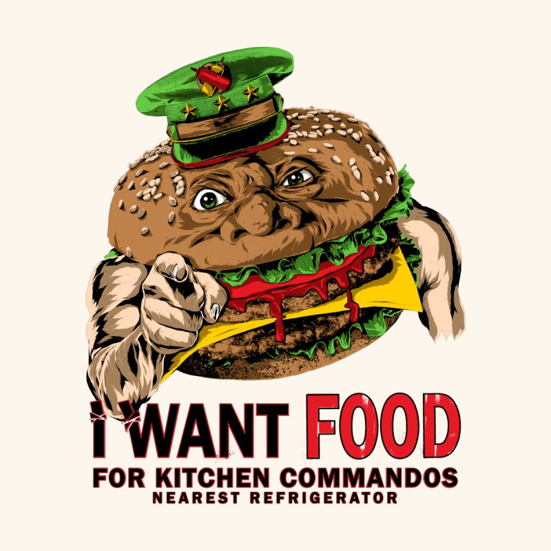 I Want Food Men's T-Shirt by Anthony Petrie Print + Product Design