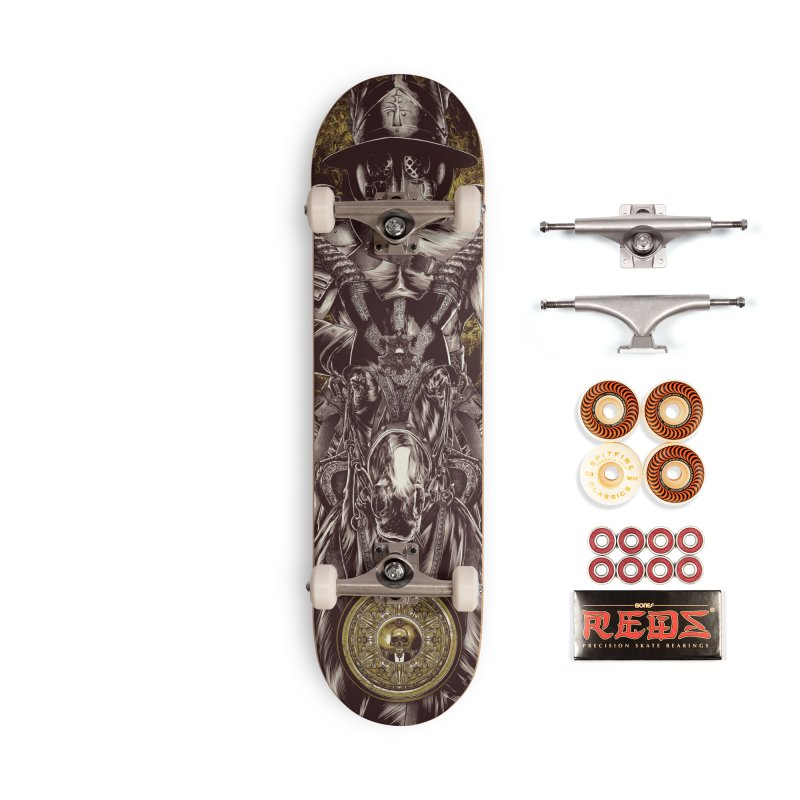 A Warrior's Dreams - War Accessories Skateboard by Anthony Petrie Print + Product Design