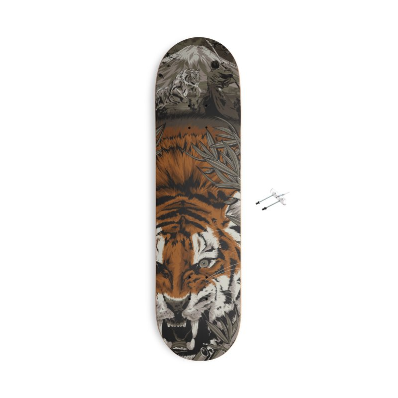A Warrior's Dreams - Tiger Accessories Skateboard by Anthony Petrie Print + Product Design