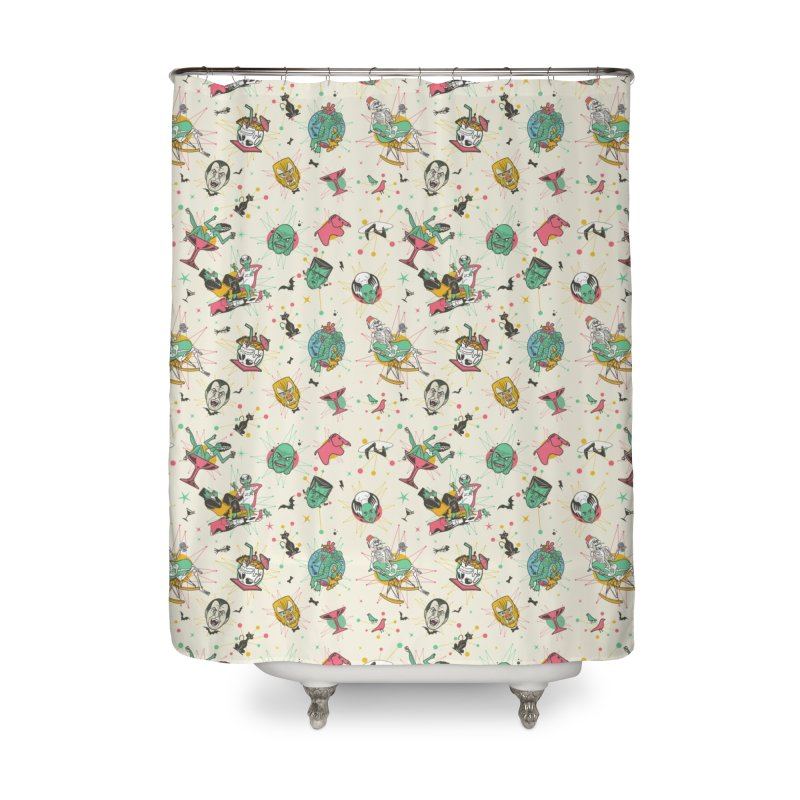 Modster Squad - Mid Century Modsters Home Shower Curtain by Anthony Petrie Print + Product Design