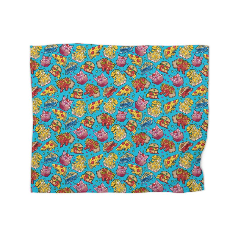 Feast Beast - Dinner Party Pattern Home Blanket by Anthony Petrie Print + Product Design