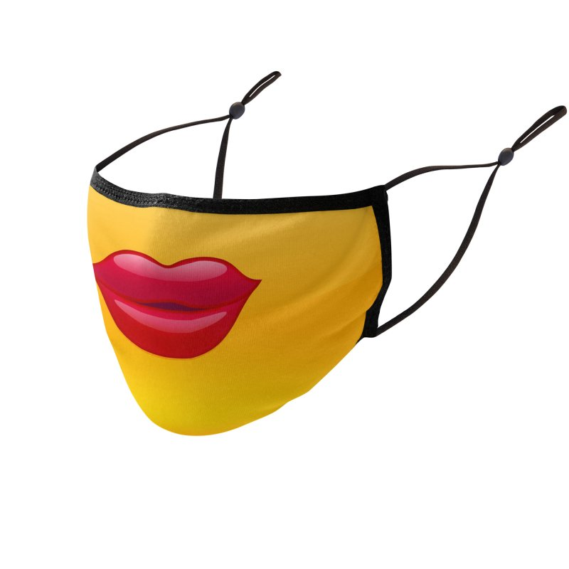 EM-OH-JEEZ - Smooch! Accessories Face Mask by Anthony Petrie Print + Product Design