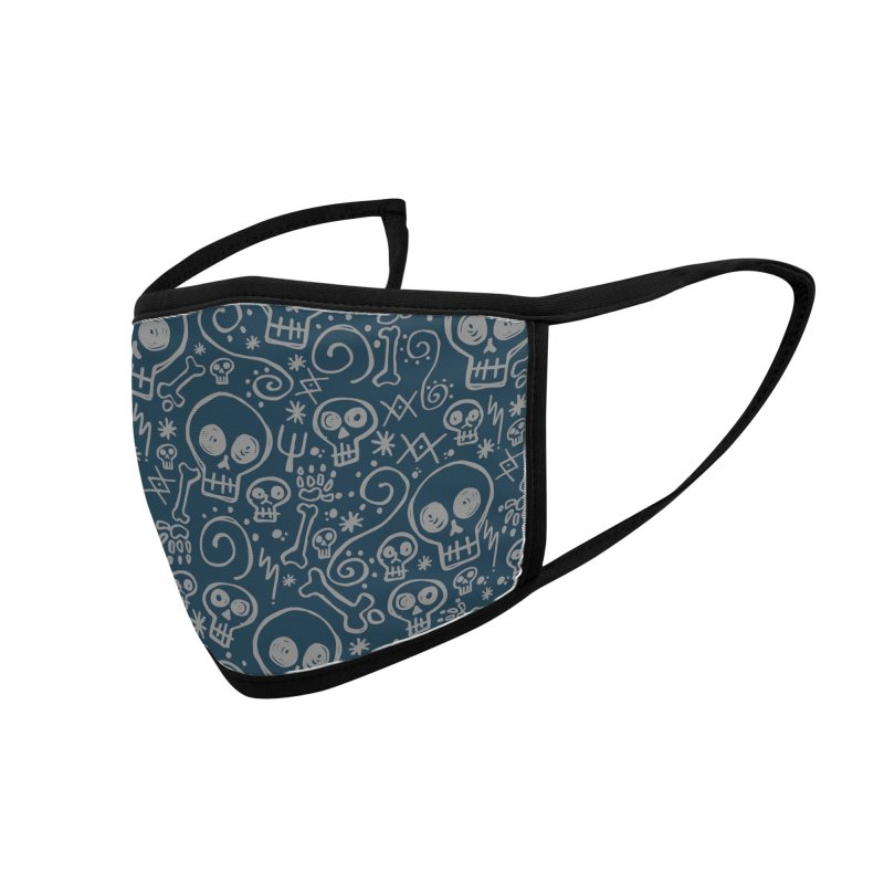 Skully Accessories Face Mask by Anthony Petrie Print + Product Design