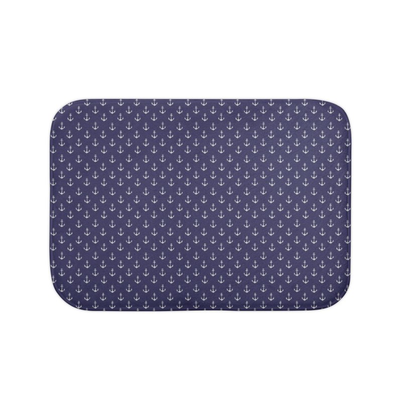 Anchors Away Home Bath Mat by Anthony Petrie Print + Product Design