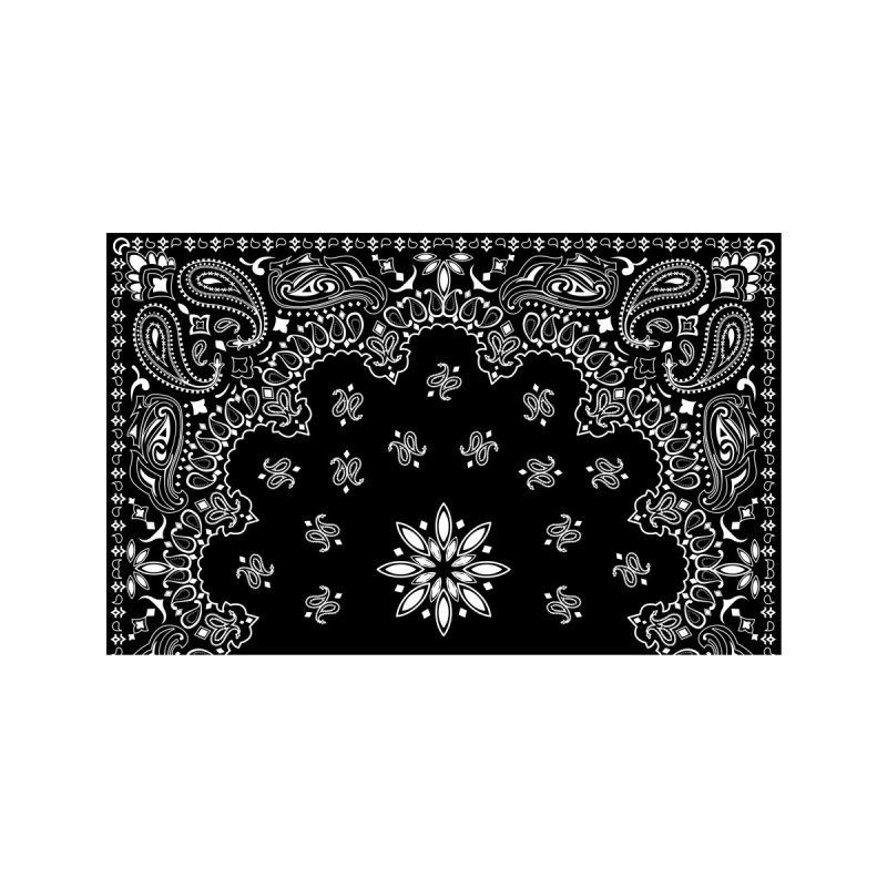 Better-Than-A-Bandana (Black) Accessories Face Mask by Anthony Petrie Print + Product Design
