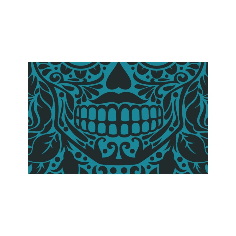 Muerto (Blue) Accessories Face Mask by Anthony Petrie Print + Product Design