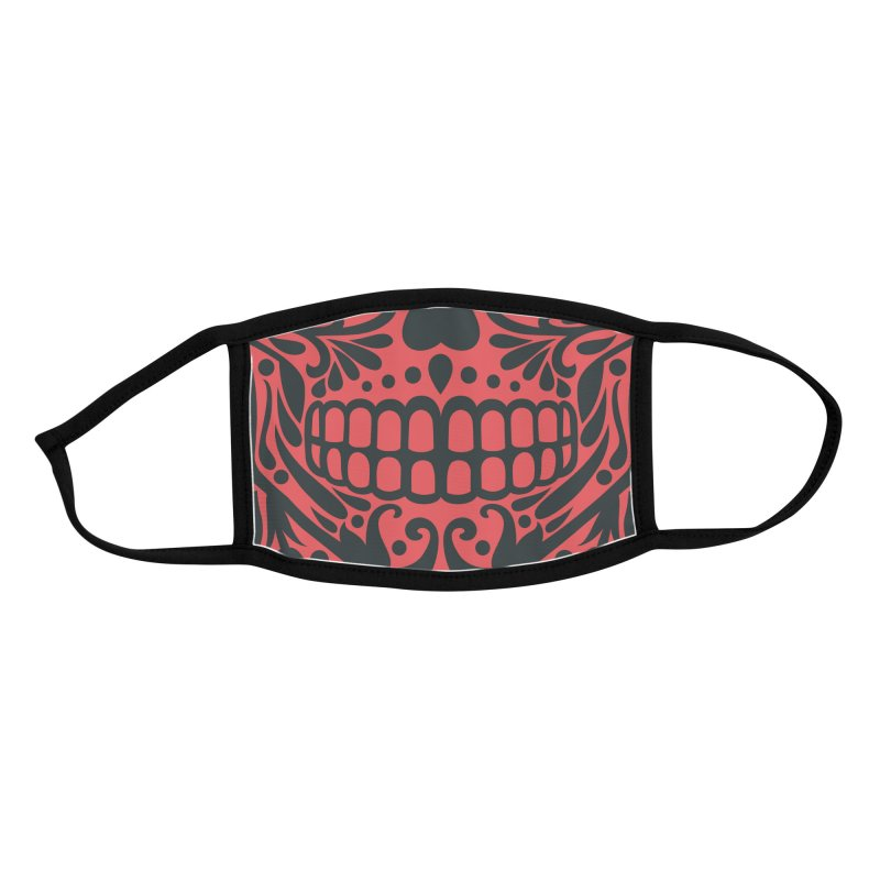 Muerto (Red) Accessories Face Mask by Anthony Petrie Print + Product Design