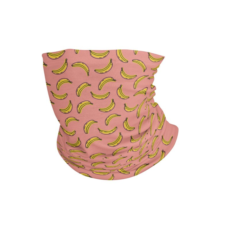 This Shit is Bananas (Pink) Accessories Neck Gaiter by Anthony Petrie Print + Product Design
