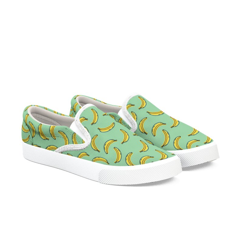 This Shit is Bananas (Green) Men's Shoes by Anthony Petrie Print + Product Design