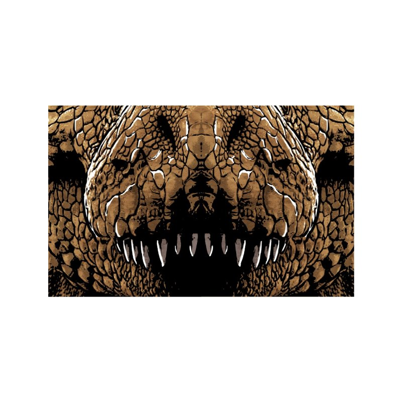 T-Rex Accessories Face Mask by Anthony Petrie Print + Product Design
