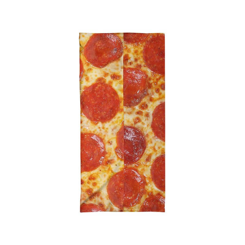 Pizza Face Accessories Neck Gaiter by Anthony Petrie Print + Product Design