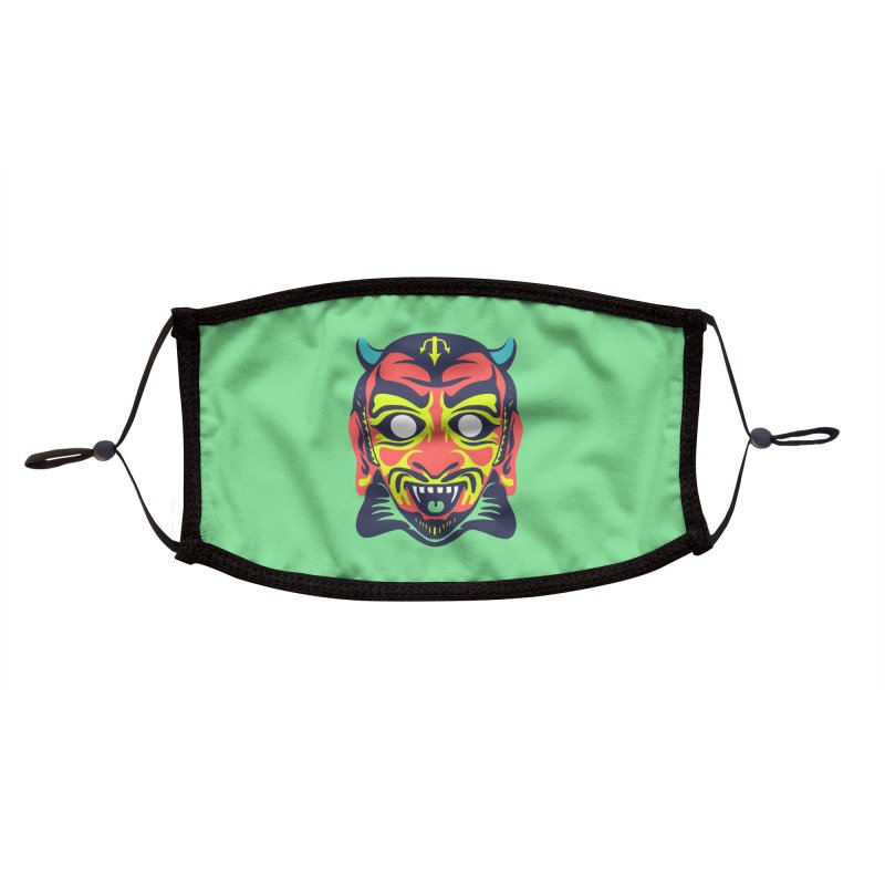 Maskerade - Satan Accessories Face Mask by Anthony Petrie Print + Product Design