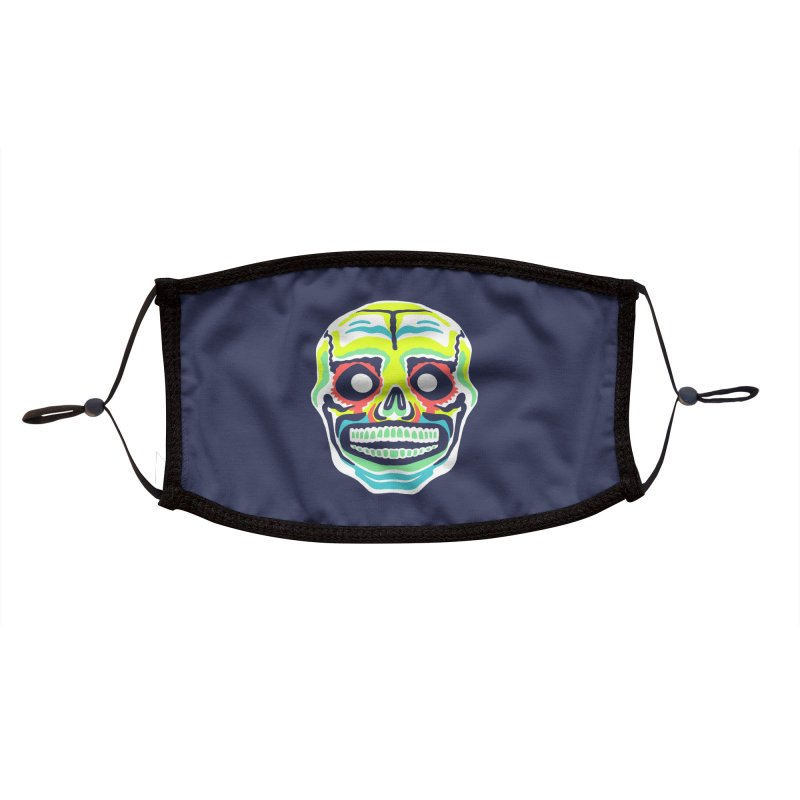 Maskerade - Señor Skull Accessories Face Mask by Anthony Petrie Print + Product Design