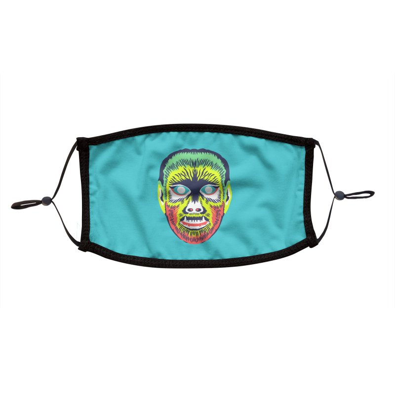 Maskerade - VVolf Accessories Face Mask by Anthony Petrie Print + Product Design