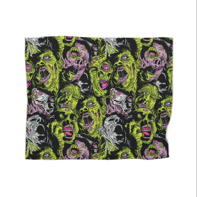 Fight of the Living Dead (Pattern) Home Blanket by Anthony Petrie Print + Product Design