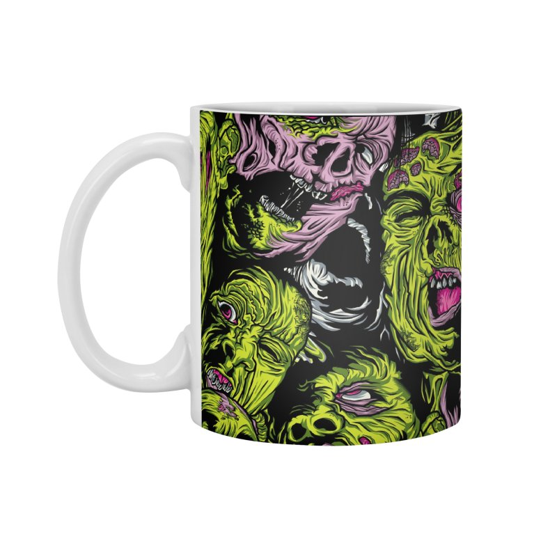 Fight of the Living Dead (Pattern) Accessories Standard Mug by Anthony Petrie Print + Product Design