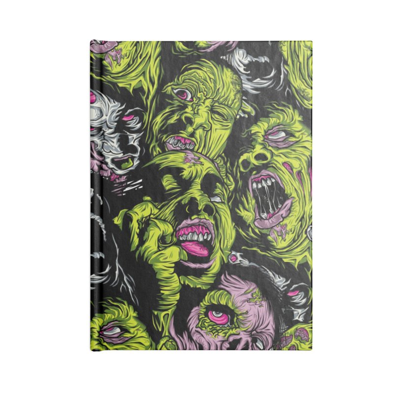 Fight of the Living Dead (Pattern) Accessories Blank Journal Notebook by Anthony Petrie Print + Product Design