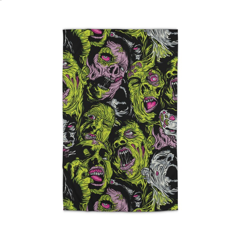 Fight of the Living Dead (Pattern) Home Rug by Anthony Petrie Print + Product Design