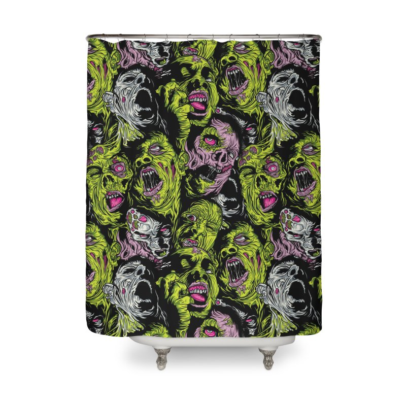 Fight of the Living Dead (Pattern) Home Shower Curtain by Anthony Petrie Print + Product Design