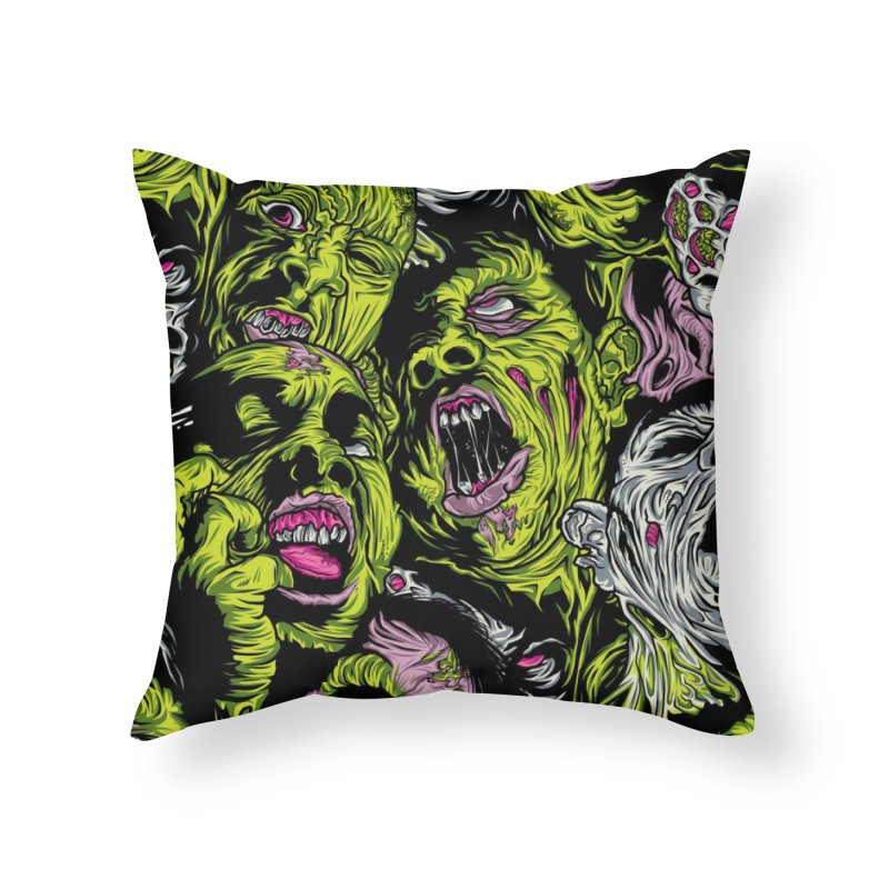 Fight of the Living Dead (Pattern) Home Throw Pillow by Anthony Petrie Print + Product Design