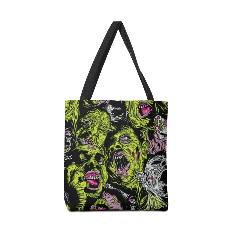 Fight of the Living Dead (Pattern) Accessories Bag by Anthony Petrie Print + Product Design