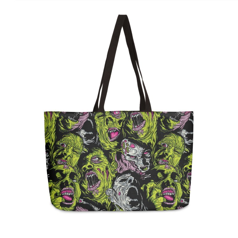 Fight of the Living Dead (Pattern) Accessories Weekender Bag Bag by Anthony Petrie Print + Product Design
