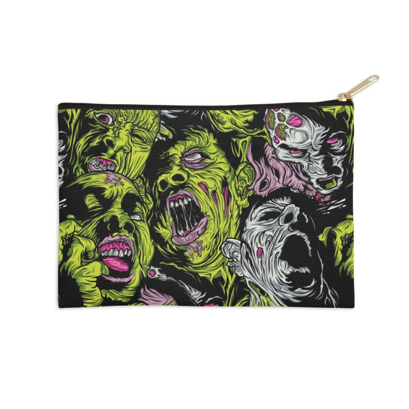 Fight of the Living Dead (Pattern) Accessories Zip Pouch by Anthony Petrie Print + Product Design