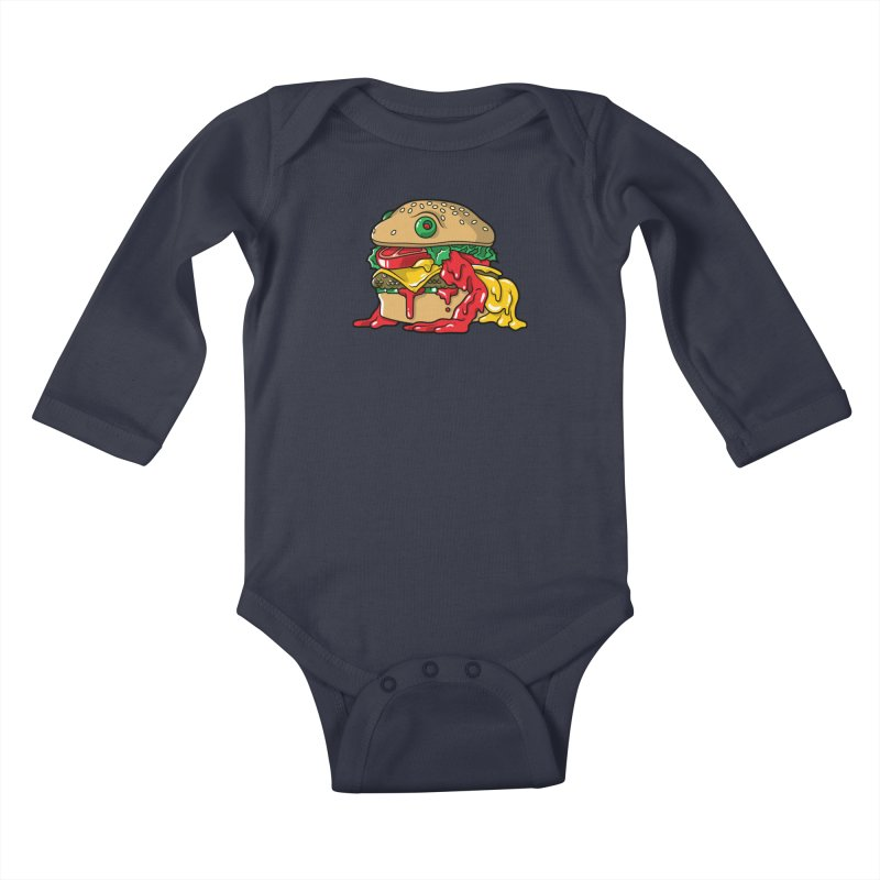 Feast Beasts - Frurger Kids Baby Longsleeve Bodysuit by Anthony Petrie Print + Product Design