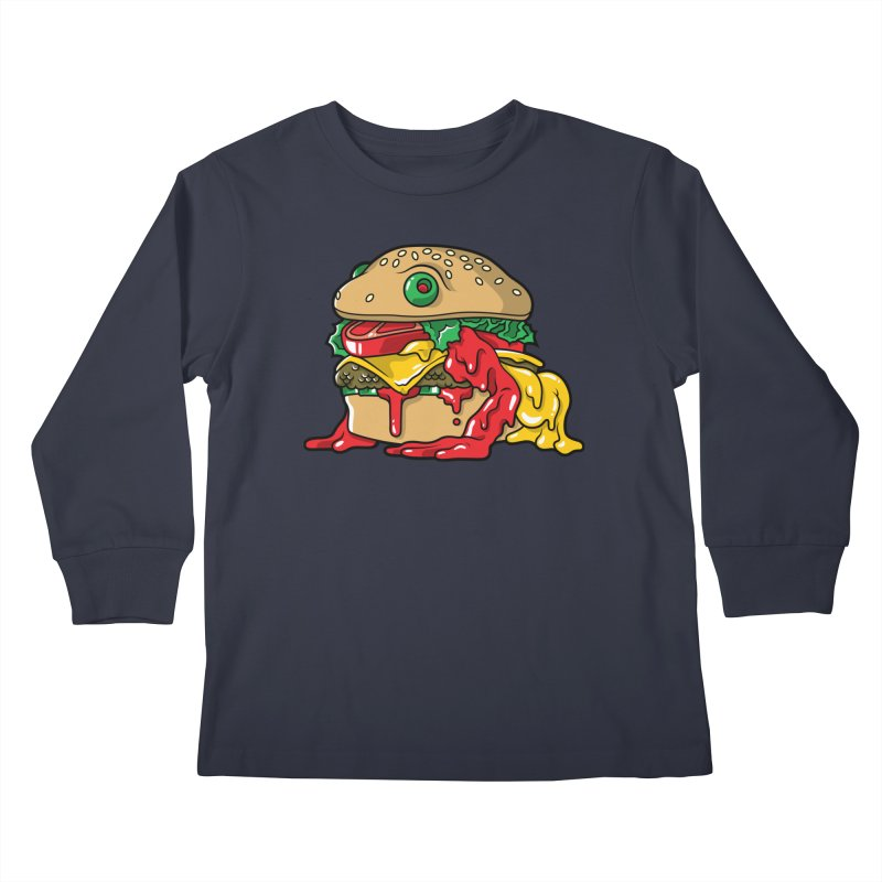 Feast Beasts - Frurger Kids Longsleeve T-Shirt by Anthony Petrie Print + Product Design