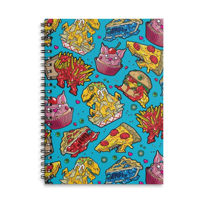 Feast Beast Family Accessories Lined Spiral Notebook by Anthony Petrie Print + Product Design