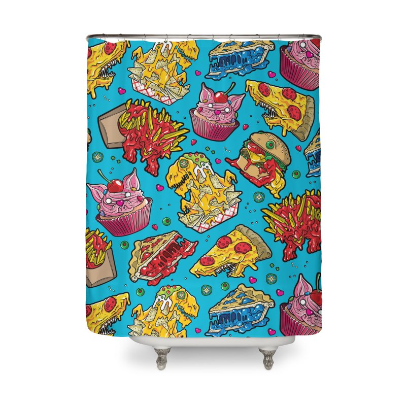 Feast Beast Family Home Shower Curtain by Anthony Petrie Print + Product Design