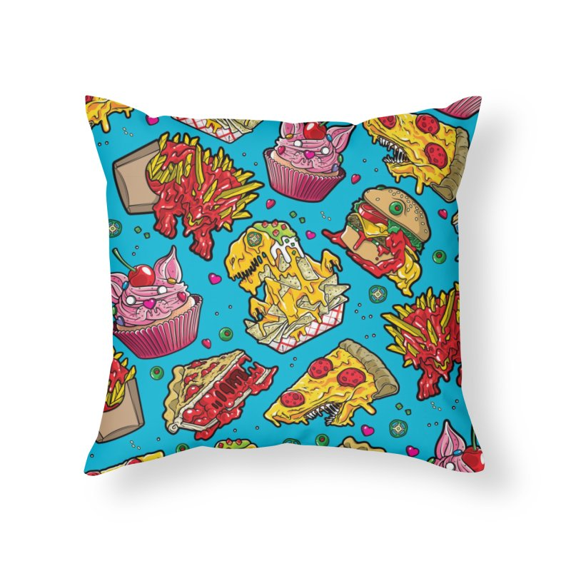 Feast Beast Family Home Throw Pillow by Anthony Petrie