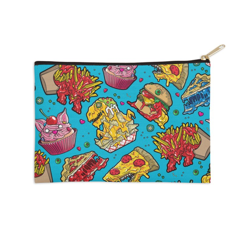 Feast Beast Family Accessories Zip Pouch by Anthony Petrie