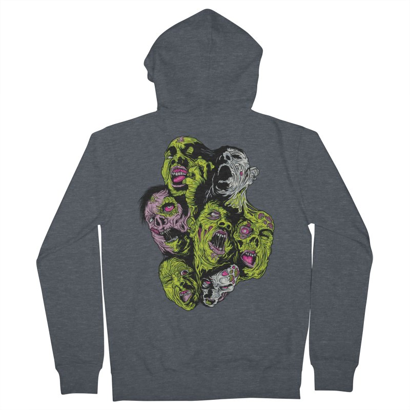 Fight of the Living Dead (Tee) Women's Zip-Up Hoody by Anthony Petrie